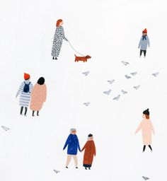 Kate Pugsley - illustration, little people, drawing, cute, human character