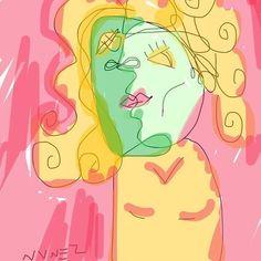 Bust of Woman. 2016. Chris A. Nunez. #nvnez #art #draw #digital #digitalartist #cubism #portrait #female #hartford #artford #ct #fineart