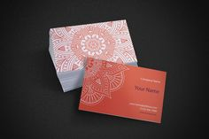 Business card in ethnic style by ViSnezh on @creativemarket