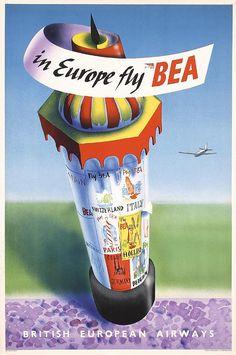 BEA Vintage Poster 1948