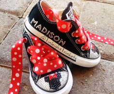 Adorn with Minnie Mouse Red Personalized by TinleighsTrinkets