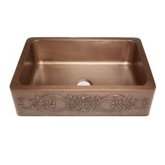 Best Farmhouse Themed Copper Sinks!  We love apron-front copper sinks in a kitchen because they are large and beautiful. Farmhouse Apron Sink, White Farmhouse Sink, Copper Farmhouse Sinks, Copper Kitchen, Copper Sinks, Farmhouse Decor, Farmhouse Furniture, Single Bowl Kitchen Sink, Kitchen Sinks