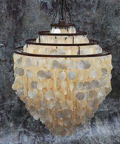 Capiz Shell Chandelier  $660  26H x 24 diameter.