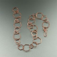 This beautiful copper necklace is right on trend, an eye-catching alternative to the staid standbys of your jewelry wardrobe. Its the luxe look of precious rose gold metal - all at a fraction of the cost. It also makes a great Wedding Anniversary present. Copper Necklace, Copper Jewelry, Ring Necklace, Beaded Jewelry, Jewelry Necklaces, Chain Bracelets, Link Bracelets, Jewlery, Copper Gifts