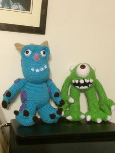 MIKE AND SULLY HAD FUN MAKING THESEE  THE PATTERNS WAS INCOMPLETE HAD TO WING A LOT OF IT