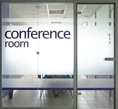 Confrence Room Frosted Glass Walls | Glass door and window into conference room