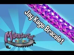Monster Tail® Jay Kage Bracelet by the Maker of the Rainbow Loom - YouTube