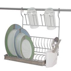Escorredor de pratos dobrável para parede