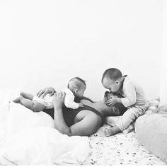 Currently can't handle all the cuteness that's happening in this picture -- a father and his children photography