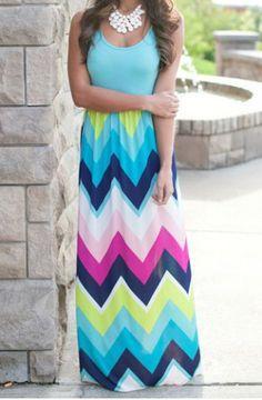 Bohemian Scoop Neck Zigzag Sleeveless Dress For Women Bohemian Dresses   RoseGal.com Mobile