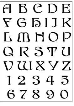 Alphabet No 3 stencil from The Stencil Library online catalogue. Buy stencils online. Stencil code DE333-L.