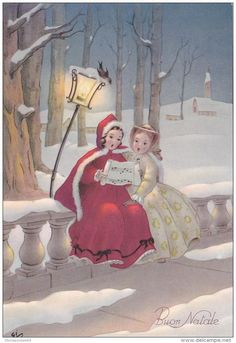 Ideas For Funny Christmas Pictures Vintage Greeting Card Old Time Christmas, Mary Christmas, Old Fashioned Christmas, Christmas Scenes, Christmas Past, Vintage Christmas Cards, Retro Christmas, Funny Christmas Pictures, Christmas Images
