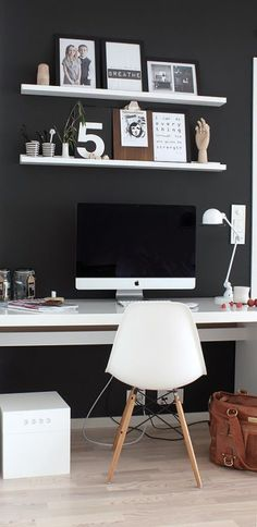 Small Office Decor - For so many adult men, having a nice office in his home becoming an absolute need. They consider their private home office as a cave, Small Office Decor, Home Office Decor, Office Ideas, Home Decor, Men Office, Office Decorations, Small Apartment Decorating, Decorating Small Spaces, Home Interior
