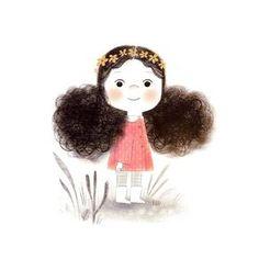 Flowers In Hair Illustration Posts Ideas Illustration Mignonne, Hair Illustration, Cute Cartoon, Cartoon Art, Little Girl Illustrations, Art Mignon, Oeuvre D'art, Cute Drawings, Insta Art