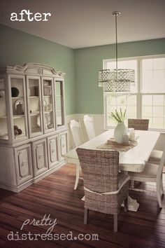 Dining Room - Before - pieces are in pinterest chalk paint furniture individually with colors