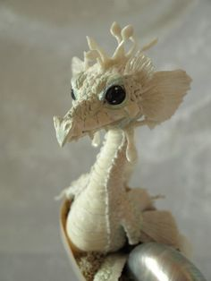Sculpture Art want to make one so cute Fantasy Dragon, Dragon Art, Fantasy Art, Snow Dragon, Tiny Dragon, Dragon Statue, Magical Creatures, Fantasy Creatures, Polymer Clay Dragon