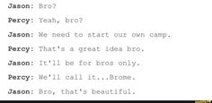 #PJO #HoO | Bromance | BroTP | Jason and Percy