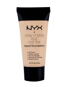 Fond de ten NYX Professional Makeup Stay Matte But Not Flat Liquid Foundation - theMakeupShop Liquid Mineral Foundation, Natural Foundation, Flawless Foundation, Drugstore Foundation, Matte Foundation, No Foundation Makeup, Foundation Stick, Drugstore Beauty, Sweat Proof Foundation