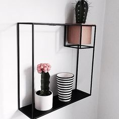 Decorative wall display and storage | UMBRA CUBIST Wall Shelf | Design by Erika Kovesdi | Photo credit: @inwi_ab #walldecor