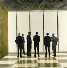 Peter R. Ravn: LUFTHANSA, oil on canvas, 2009.