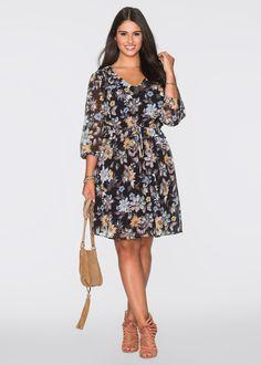 eda1ab516e5 Chiffon-Kleid vintagerosa - BODYFLIRT jetzt im Online Shop von bonprix.de  ab