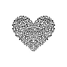 Music Note Heart, Create Shirts, Scan And Cut, How To Make Paper, Music Notes, Printable Art, Sheet Music, Musicals, Silhouette