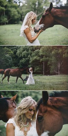I will definitely be taking this photo with my horse at my wedding