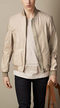 Burberry Brit Seam Sealed Technical Bomber Jacket