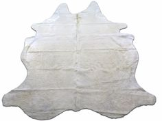 White Cowhide Rug Size: 6.7 X 6 ft Solid White Cow Hide Skin Rug E-453 #cowhidesusa #Contemporary