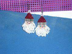 Santa Claus Earrings by Jeweleryandbeyond on Etsy