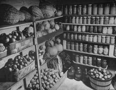 "Many rural American Families in the late 19th & early 20th century had ""Root Cellars"" where they would store vegetables along with whatever food that they ""put up"". Here is an American Root Cellar from 1910."