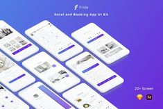 Frida – Hotel and Booking App Sketch & Adobe XD template is designed with modern design trends. Page Design, Web Design, Hotel Booking App, Desktop Design, Sign Up Page, Adobe Xd, Web Layout, Ui Kit, Website Template