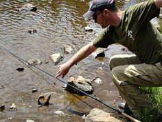 Landing a high lake trout