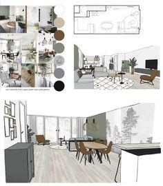 Interior Design Renderings, Interior Design Portfolios, Interior Design Boards, Office Interior Design, Home Interior, Interior Architecture, Furniture Design, Moodboard Interior Design, Architecture Portfolio