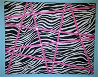 Little BoTeek - Ribbon Boards Ribbon Boards, Pink Zebra, Zebra Print, Printing On Fabric, Hot Pink, It Is Finished, Sparkle, Jewels, Crystals