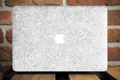 White Mandala Mac Book Pro Case 15 Inch 11 Macbook Air Case MacBook 12 Plastic Case Pro Retina 15 MacBook Tough Case Gift for Girlfriend