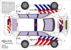 Bouwplaat politieauto