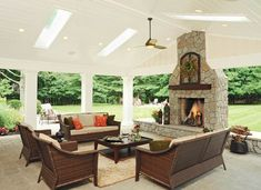 Natural outdoor lighting for a covered patio