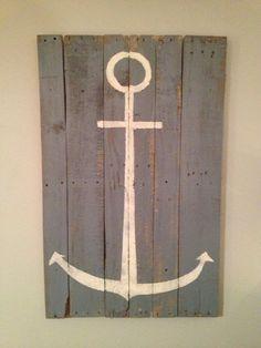Anchor Wall Hanging 33 x 40 by WoodburyCreek on Etsy, $40.00