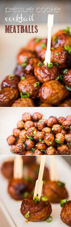 Made with just a few simple ingredients you probably have on hand, Pressure Cooker Cocktail Meatballs are a tasty appetizer that take minutes to prepare! Instant Pot Pressure Cooker, Pressure Cooker Recipes, Pressure Cooking, Easy Appetizer Recipes, Yummy Appetizers, Cocktail Meatballs, Instant Recipes, Football Food, Game Day Food