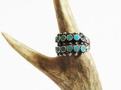 Zuni Turquoise Silver Ring //  SIZE 6.5 Sterling by BarnabyJack SOLD