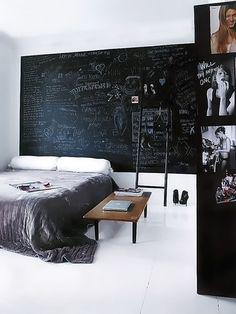Bedroom Design For Men Chalk Board