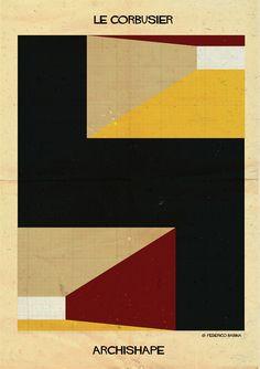 """ARCHISHAPE: """"Formas arquitetônicas em ilustrações minimalistas"""""""
