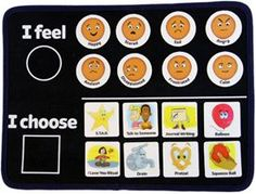 great choice board for feelings and choices