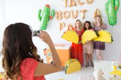 Taco Piñata Workshop Recap (+ A Giveaway! Mexican Pinata, Mexican Party, Taco Party, Grad Parties, Aaliyah, Best Part Of Me, Photoshoot Ideas, Photo Booth, Special Events