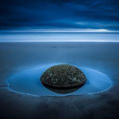 Moeraki boulder near Oamaru, New Zealand- photo by Beautiful World, Beautiful Places, Dunedin New Zealand, New Zealand Travel, South Island, Nature Pictures, Outdoor Travel, Bouldering, Places To Go