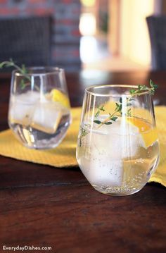 Gin becomes the perfect summer patio cocktail with our sparkling lemon gin cocktail recipe. We used lots of fresh lemon juice and muddled thyme to really give this drink a bright, citrusy flavor.
