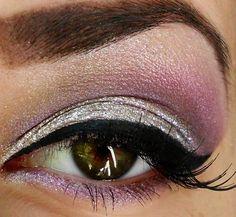 Purple and silver beautiful makeup!