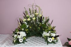 Woodsy Urn Arrangement, created at Harbourview Flowers in Thunder Bay, ON.
