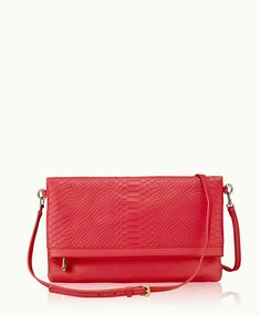 Poppy Carly Convertible Clutch | Embossed Python Leather | GiGi New York